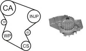 Комплект ГРМ + помпа Fiat Scudo/Citroen Berlingo 1.9D 98-