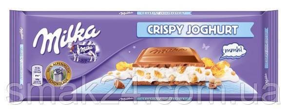 Шоколад Milka Crispy Joghurt (з хрустким йогуртом) Швейцарія 300г
