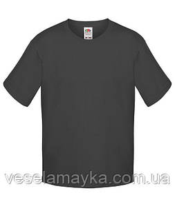 Темно-серая детская футболка Премиум
