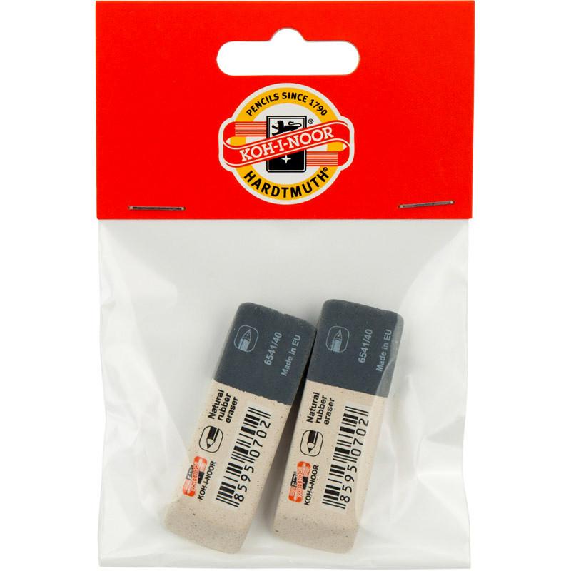 Набор ластиков 2 шт Koh-i-noor SunPearl универсальный 6541/40/2/P