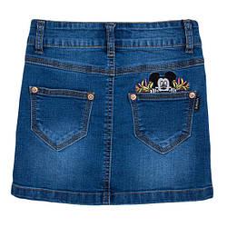 Джинсовая юбка  для девочки Yuke Мини Маус