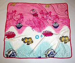 Плед детский 110*110см микрофибра, софт, одеяло мягкое, одеяло теплое