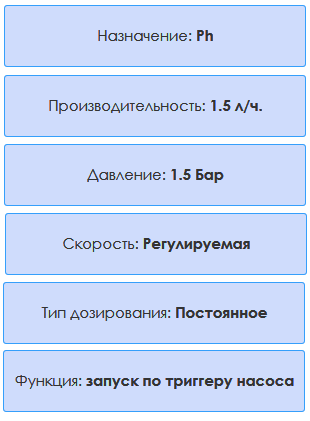 насос дозатор AquaViva pH 1,5 л/ч (KUPH1H1HA1003)