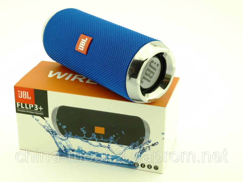 JBL FLLP3+ 6W копія Flip3+, портативна колонка з Bluetooth FM MP3, синя