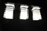 Люстра на 3 лампочки (черная).