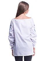 """Рубашка вышиванка женская """"Троянда"""" синяя, фото 2"""