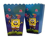 """Корзинки для попкорна """"Sponge Bob"""". В упак:6шт. Пр-во:Китай"""