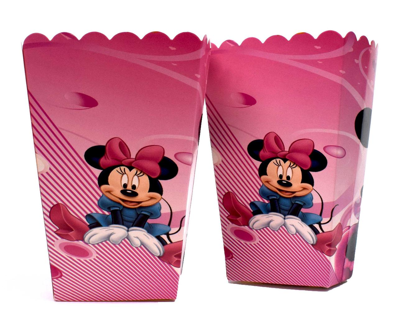 "Корзинки для попкорна ""Minnie Mouse"". В упак:6шт. Пр-во:Китай"