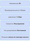 Перистальтический дозирующий насос AquaViva pH/CL 1,5 л/ч (KUPH) с автодозацией, регулируемая скорость, фото 6