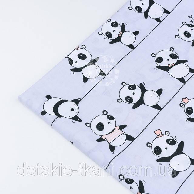 лоскут ткани с пандами