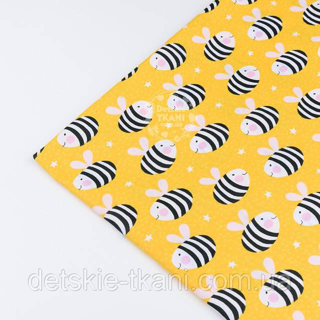 Ткань желтая с пчелами