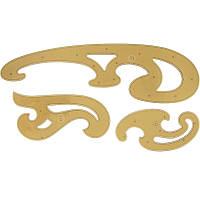 Набор линейки-лекала Koh-i-noor №3 большой 3 предмета акрил 750068