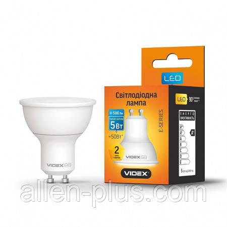 LED лампа VIDEX MR16е 5W GU10 3000K 220V (гарантія 2 роки)
