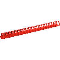 Пружины для брошуровщика Axent пластик d 25 мм красная 50 шт 2925-06-A