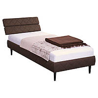 AMF Кровать 0,8х2 Бизе, ткань Фортуна 46, ножки буковые конус венге