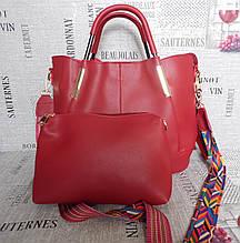 Большая красная сумка с косметичкой (клатчем) Celine