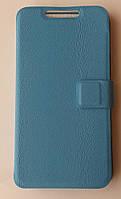 Чехол-книжка PU кожа кожаный Gigabyte Gsmart Alto A2 Синий