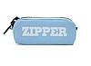 Пенал школьный большой на молнии Zipper голубой, фото 2