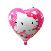 Фольгированные воздушные шары, форма:сердце Кити, 18 дюймов/45 см, 1 штука
