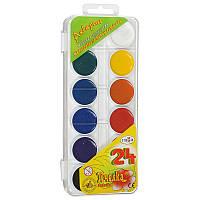 Краски акварельные Пчёлка Гамма 24  цветов пластуп 212035