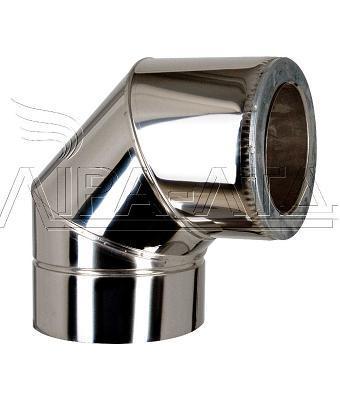 Колено 90гр термо нерж/нерж  Ф120/180мм 0,5мм