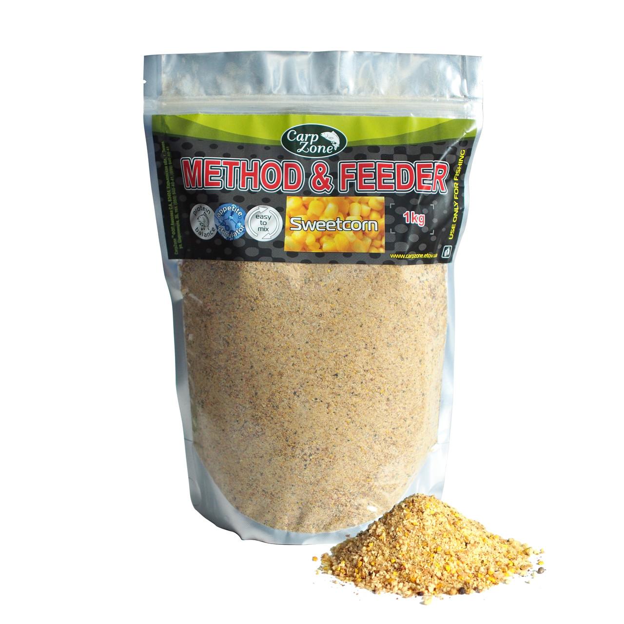 Прикормка Метод и Фидер Method & Feeder Sweet Corn (Сахарная Kукуруза) 1kg