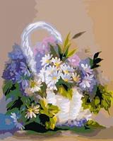Набор для рисования MENGLEI Ромашки в корзинке (MG276) 40 х 50 см, фото 1