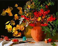 Раскраска по номерам MENGLEI Осенний букет (MG289) 40 х 50 см, фото 1