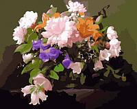 Раскраска по цифрам MENGLEI Удивительный букет (MG292) 40 х 50 см, фото 1