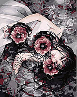 Рисование по номерам MENGLEI Девушка в цветах  (MG272), фото 1