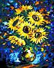 Картина раскраска MENGLEI Ночные подсолнухи худ. Афремов Леонид (MG505)