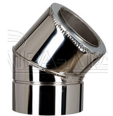 Колено 45гр термо нерж/нерж  Ф120/180мм 0,5мм