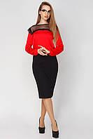 Блузка женская Эдит 44, красный
