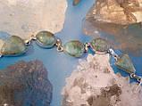 Красивый браслет с ларимаром. Браслет - природный ларимар (Доминиканская бирюза) в серебре., фото 2
