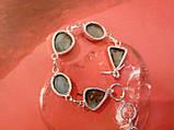 Красивый браслет с ларимаром. Браслет - природный ларимар (Доминиканская бирюза) в серебре., фото 3