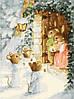 Картина по номерам MENGLEI Рождественские калядки худ. Кинкейд Томас (MG302) 40 х 50 см