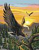 Раскраска по номерам MENGLEI Парящие орлы (MG312) 40 х 50 см