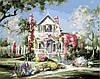 Картина по номерам MENGLEI Дом в цветах (MG299) 40 х 50 см