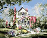 Картина по номерам MENGLEI Дом в цветах (MG299) 40 х 50 см, фото 1
