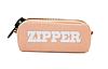 Пенал школьный большой на молнии Zipper оранжевый, фото 2