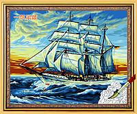Раскраска по номерам MENGLEI Корабль на закате (MG228) 40 х 50 см, фото 1