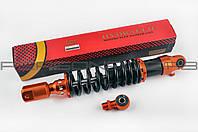Амортизатор универсальный (+ переходник)   350mm, тюнинговый с подкачкой   (оранжево-черный)   NDT