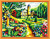Картина раскраска MENGLEI Замок в саду (MG251) 40 х 50 см