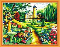 Картина раскраска MENGLEI Замок в саду (MG251) 40 х 50 см, фото 1