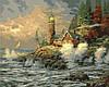 Раскраска по номерам MENGLEI Морской прибой худ. Кинкейд Томас (MG279) 40 х 50 см