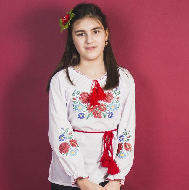"""Вышитая сорочка для девочек """"Зорянка """" цветная"""