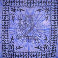 """Покрывало """"Шива"""" синее 100% хлопок (210х240 см)"""