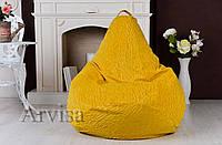 Бескаркасное Кресло мешок груша пуфик XL (120х75) флок с тиснением
