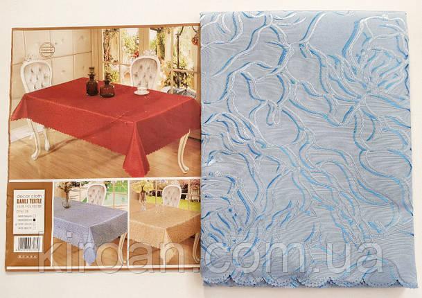"""Скатерть на стол """"Роза"""" голубая 145x205см , фото 2"""
