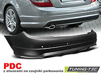 Задний бампер тюнинг обвес Mercedes W204 в стиле AMG C63